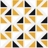 Modelo inconsútil del vector con los triángulos del color ilustración del vector