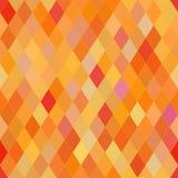 Modelo inconsútil del vector con rombos Textura anaranjada abstracta stock de ilustración