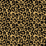 Modelo inconsútil del vector con textura de la piel del leopardo Repetición del leop ilustración del vector
