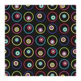 Modelo inconsútil del vector de círculos multicolores ilustración del vector