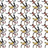 Modelo inconsútil del vector de cuerdas Lazos coloreados de la cuerda foto de archivo libre de regalías