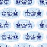 Modelo inconsútil del vector de la corona real incompleta de Londres Símbolo británico histórico famoso libre illustration
