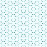 Modelo inconsútil del vector de la forma del ladrillo del hexágono de la Línea Verde del trullo Imagenes de archivo
