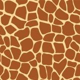 Modelo inconsútil del vector de la jirafa Fotos de archivo libres de regalías