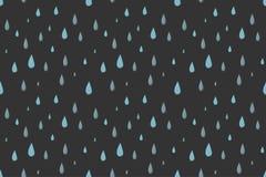 Modelo inconsútil del vector de la lluvia gris Fotografía de archivo libre de regalías