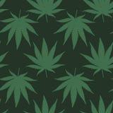Modelo inconsútil del vector de la marijuana Foto de archivo