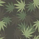 Modelo inconsútil del vector de la marijuana Fotografía de archivo
