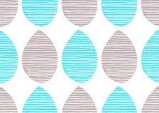 Modelo inconsútil del vector de la naturaleza Gris brillante y el azul se va con las líneas en el fondo blanco Ornamento abstract Imagen de archivo libre de regalías