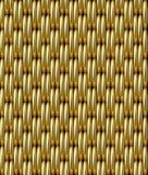 Modelo inconsútil del vector de la rejilla del oro stock de ilustración