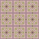 Modelo inconsútil del vector de la teja del rosa del vintage Imagen de archivo