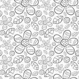 Modelo inconsútil del vector de las flores planas del lirio de los valles de las flores en la mano escandinava del estilo dibujad libre illustration