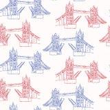 Modelo inconsútil del vector de Londres del puente incompleto de la torre Británicos históricos famosos libre illustration
