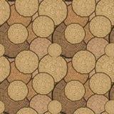 Modelo inconsútil del vector de los anillos de árbol Fondo del tronco de árbol del corte de la sierra Ilustración del vector Fotografía de archivo