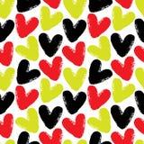 Modelo inconsútil del vector de los corazones Imagen de archivo libre de regalías