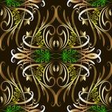 Modelo incons?til del vector de lujo del vintage Fondo floral ornamental hermoso la l?nea arte de la elegancia remolina ornamento stock de ilustración