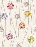 Modelo inconsútil del vector de medallones florales. stock de ilustración