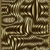 Modelo inconsútil del vector de moda del Waves Gold 3d Haber texturizado moderno o ilustración del vector