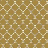 Modelo inconsútil del vector de mozaic amarillo tejas Marroquí-inspiradas stock de ilustración