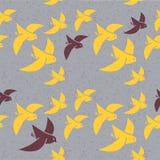 Modelo inconsútil del vector de pájaros estilizados libre illustration