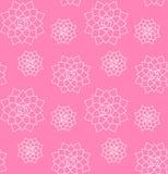 Modelo inconsútil del vector de suculento exhausto en rosa libre illustration