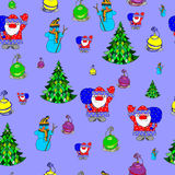 Modelo inconsútil del vector de un tema de la Navidad libre illustration