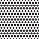 Modelo inconsútil del vector del balón de fútbol, textura fotografía de archivo libre de regalías