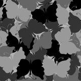 Modelo inconsútil del vector del camuflaje de la mariposa Fotos de archivo libres de regalías