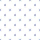 Modelo inconsútil del vector del follaje Fotografía de archivo libre de regalías