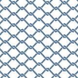 Modelo inconsútil del vector del nudo marino de la cuerda Fotos de archivo libres de regalías
