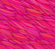 Modelo inconsútil del vector del pelo rosado del garabato Imágenes de archivo libres de regalías
