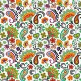 Modelo inconsútil del vector del drenaje de la mano de Paisley Modelo indio tradicional para las materias textiles, los papeles p libre illustration