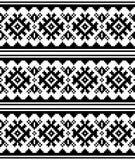 Modelo inconsútil del vector escandinavo del invierno o de la Navidad - estilo tradicional del bordado de Sami Lapland stock de ilustración