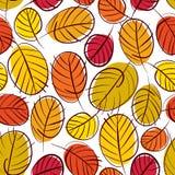 Modelo inconsútil del vector floral, backgroun inconsútil de las hojas de otoño Imagen de archivo