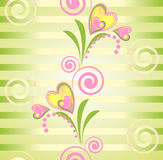 Modelo inconsútil del vector floral colorido Imagen de archivo