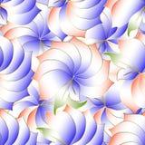 Modelo inconsútil del vector floral de la elegancia 3d El ornamental moderno sea stock de ilustración