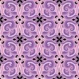 Modelo inconsútil del vector floral ornamental colorido Fondo violeta rosado del arabesque de la elegancia Flores étnicas del est ilustración del vector