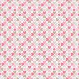 Modelo inconsútil del vector floral Rojo, rosado, gris, ilustración del vector