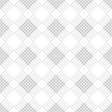 Modelo inconsútil del vector Fondo blanco y negro geométrico simétrico con el Rhombus y las líneas Ornamento de repetición decora Fotografía de archivo libre de regalías