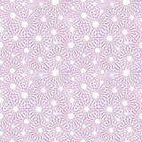 Modelo inconsútil del vector Fondo rosa claro del invierno estacional con los copos de nieve del blanco del primer Fotos de archivo