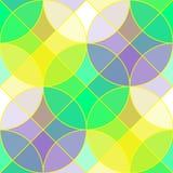 Modelo inconsútil del vector geométrico colorido de la teja stock de ilustración