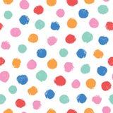 Modelo incons?til del vector irregular colorido de los lunares Modelo incons?til de moda Rosa, amarillo, naranja, c?rculos rojos, ilustración del vector
