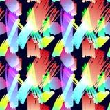 Modelo inconsútil del vector, movimientos abstractos del cepillo, fondo del Grunge, ejemplo colorido, impresión de la tela ilustración del vector