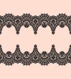 Modelo inconsútil del vector negro del cordón fotos de archivo