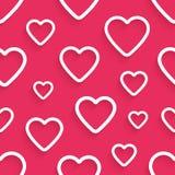Modelo inconsútil del vector para el día de tarjeta del día de San Valentín con Fotos de archivo