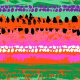 Modelo inconsútil del vector pintado a mano Imágenes de archivo libres de regalías