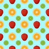 Modelo inconsútil del vector plano de las frutas Fotos de archivo