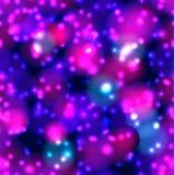 Modelo inconsútil del vector, puntos ligeros, fondo ultravioleta de neón ilustración del vector