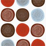 modelo inconsútil del vector 70s, dibujo de los círculos coloreados libre illustration