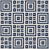 Modelo inconsútil del vector del shibori abstracto del añil con la impresión del ikat del mosaico Fotos de archivo libres de regalías
