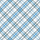 Modelo inconsútil del vector del tartán azul y blanco Textura a cuadros de la tela escocesa Imagenes de archivo